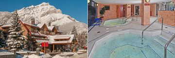 Banff Ptarmigan Inn, Exterior in Winter and Hot Pools