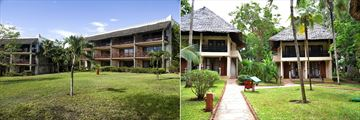 Kole Kole Blocks and Standard Bungalow Exteriors at Baobab Beach Resort & Spa