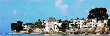 Charming houses along Barbados coast