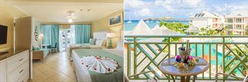 Deluxe Garden Room and Deluxe Pool View at Bay Gardens Beach Resort