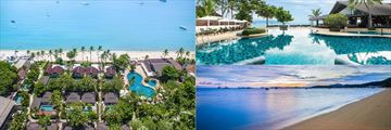 Beautiful views of the beach and pools at Peace Resort