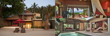 The Beachfront Pool Room at Anantara Rasananda Koh Phangan Villas