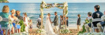 Beautiful beach wedding at Curtain Bluff