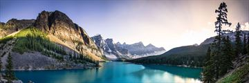 Stunning Lake Moraine & Mountain Scenery in Alberta