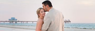 Married couple on Clearwater Beach