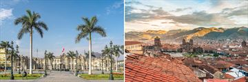 Beautiful Sights in the Cities of Lima and Cusco, Peru