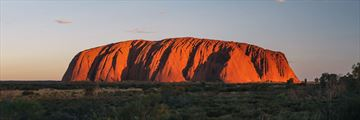 Beautiful sunset over Uluru