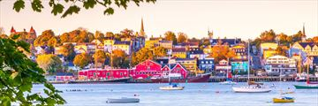 Beautiful view of Lunenburg's colourful buildings