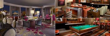 Bellagio, Two Bedroom Grand Lake View Living Room, Cypress Suite and Spa Tower Executive Parlor Billiards Room