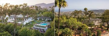 Belmond El Encanto, Aerial View of Hotel and Views of Santa Barbara