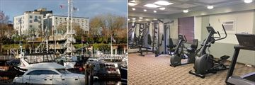 Best Western Dorchester Hotel, Exterior of Hotel with Views of Nanaimo Harbour and Fitness Room