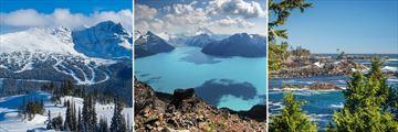 Blackcomb Mountain, Garabaldi Lake & Vancouver Island