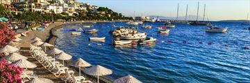 Bodrum seafront in Turkey