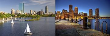 Waterfront scenery of Boston, Massachusetts