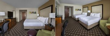 Guest Room King Bed and Guest Room Two Doubles at Boston Marriott Quincy