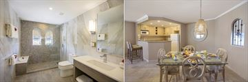 Bougainvillea Barbados, One Bedroom Penthouse Bathroom and One Bedroom Penthouse Dining Area