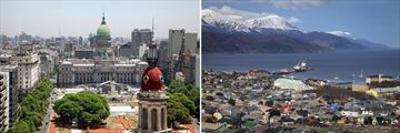 Cityscapes of Buenos Aires & Ushuaia, Argentina