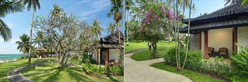 Candi Beach Resort & Spa, Deluxe Ocean Bungalow and Deluxe Garden Bungalow