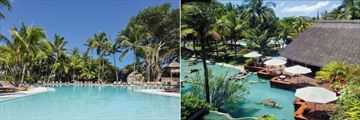 Canonnier Beachcomber Golf Resort & Spa, Pool and Le Planteur Bar Terrace and Pool