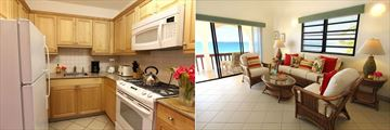 Carimar Beach Club, One or Two Bedroom Meads Villas Kitchen and Living Room