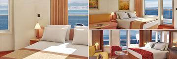 Carnval Liberty: Premium Vista Balcony, Premium Balcony, Ocean Suite