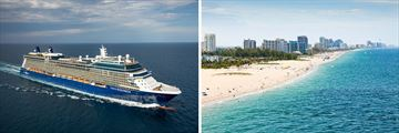 Celebrity Equinox Cruise Ship and Fort Lauderdale Beachline
