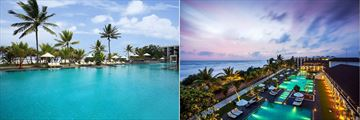 Centara Ceysands Resort & Spa, Pool and Aerial View of Resort and Pool in Evening