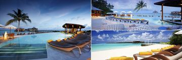 Centara Ras Fushi swimming pool and beach
