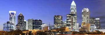 Charlotte at night, North Carolina