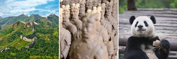 Great Wall of China, Terracotta Warriors, Panda at Chengdu