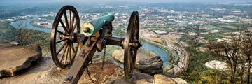 Civil War era cannon in Chattanooga, Tennessee