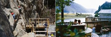 Rock Climbing and Relaxing in a Jacuzzi in Clayoquot Wilderness Resort
