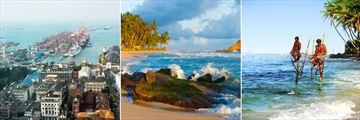 Colombo, Mrissa beachfront & Galle stilt fisherman