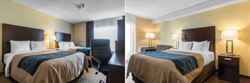 Spacious Room with Two Queen Beds and Guestroom with Sleeper Sofa at Comfort Inn
