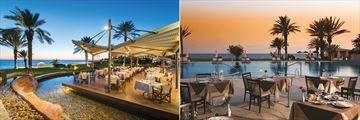 Adonis Restaurant and Leda Italian Restaurant at Constantinou Bros Athena Beach Hotel