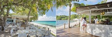 Cotton House, Mustique, Beach Cafe and Beach Bar