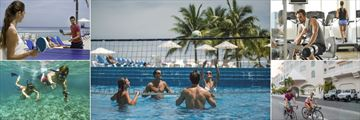 Cozumel Palace, Ping Pong, Water Volleyball, Fitness Room, Cycling and Snorkeling