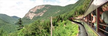 Crawford Notch train ride in the White Mountains