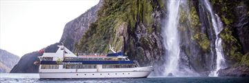 Cruising through Milford Sound