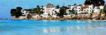 Houses along the Barbados coastline