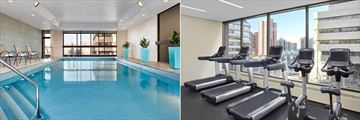 Indoor Pool and Fitness Centre at Delta Calgary Downtown