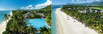 Dinarobin Beachcomber Golf Resort & Spa, Aerial Views of Resort, Pool and Beach