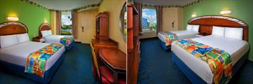 Disney's All-Star Resorts, Guest Rooms