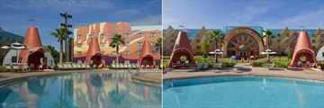Disney's Art of Animation Resort, Cozy Cone Pool and Wheel Well Motel Exterior