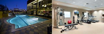 The Pool and Fitness Centre at Double Tree by Hilton Chattanooga Downtown