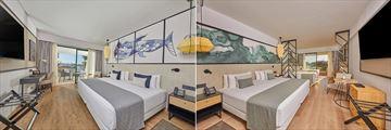 Swim-Up Room and Family Garden View at Dreams Lanzarote Playa Dorada Resort & Spa