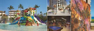 Dreams Playa Mujeres Golf & Spa Resort, Water Park, Explorers' Club Playground, Core Zone Teens' Club Wall Climbing and Core Zone Teens' Club Interior
