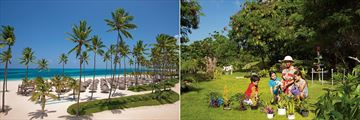 The beach and kids club at Dreams Royal Beach Punta Cana