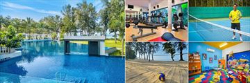 Dusit Thani Krabi Beach Resort, Malati Pool, Fitness Centre, Tennis, Family Club and Beach Volleyball