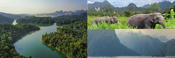Scenery around the Elephant Hills Rainforest Camp